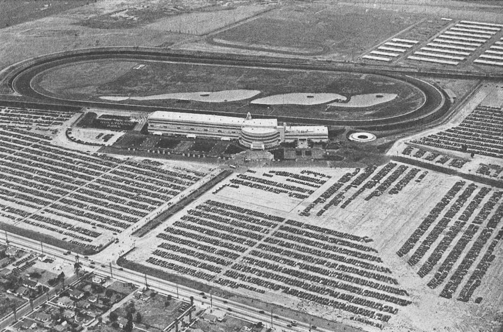 Hollywood Park from the air, 1938 (Turf and Sport Digest)