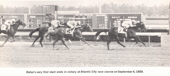 Kelso wins his debut at Atlantic City Race Course, 1959