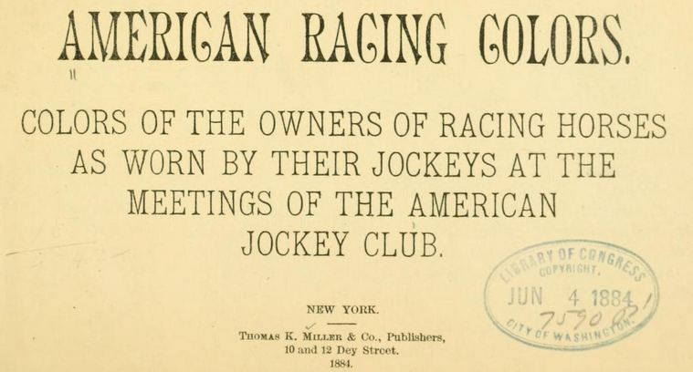 Title Page From American Racing Colors